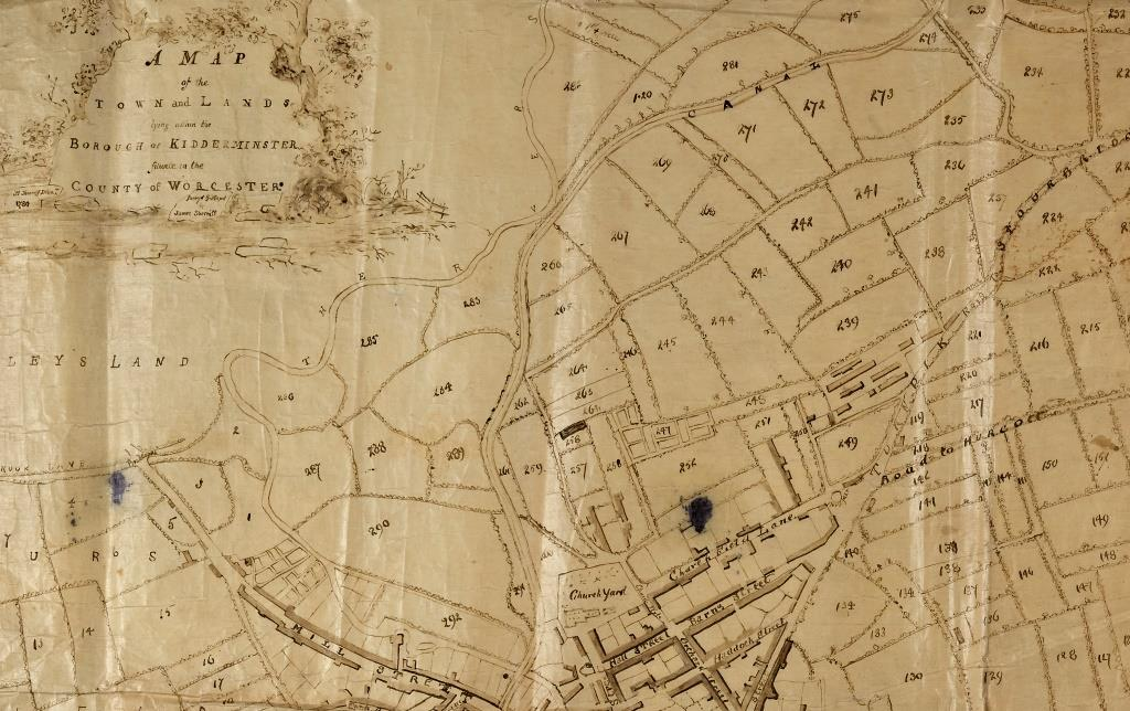 1780 Kidderminster map