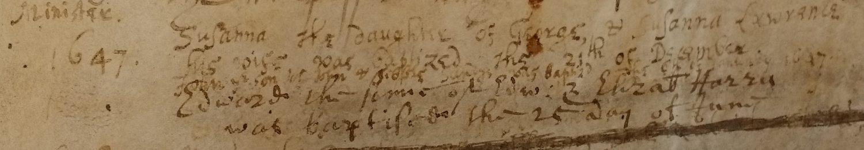 Parchment parish register