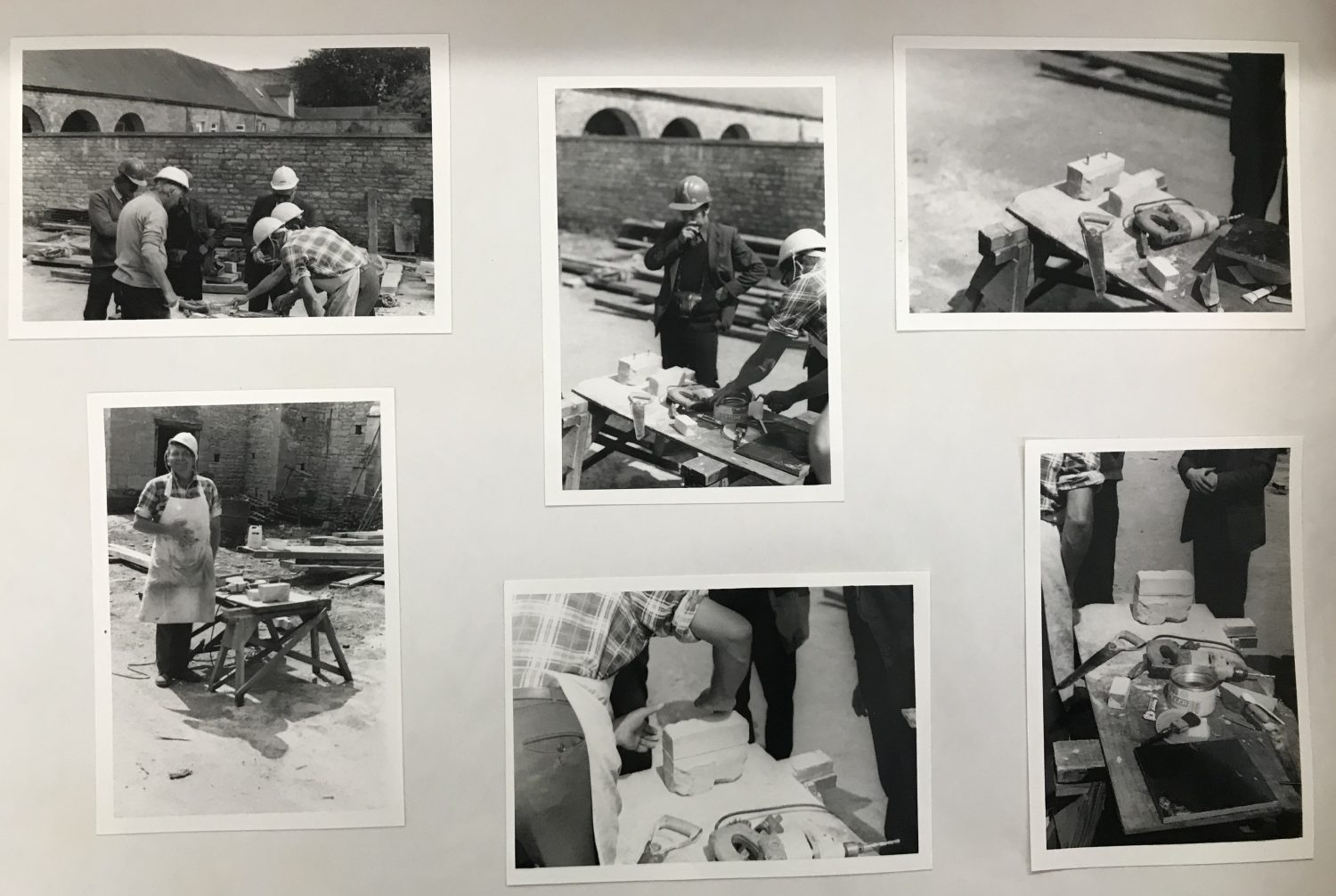 Photographs of some of the individuals who worked on the barn during its reconstruction