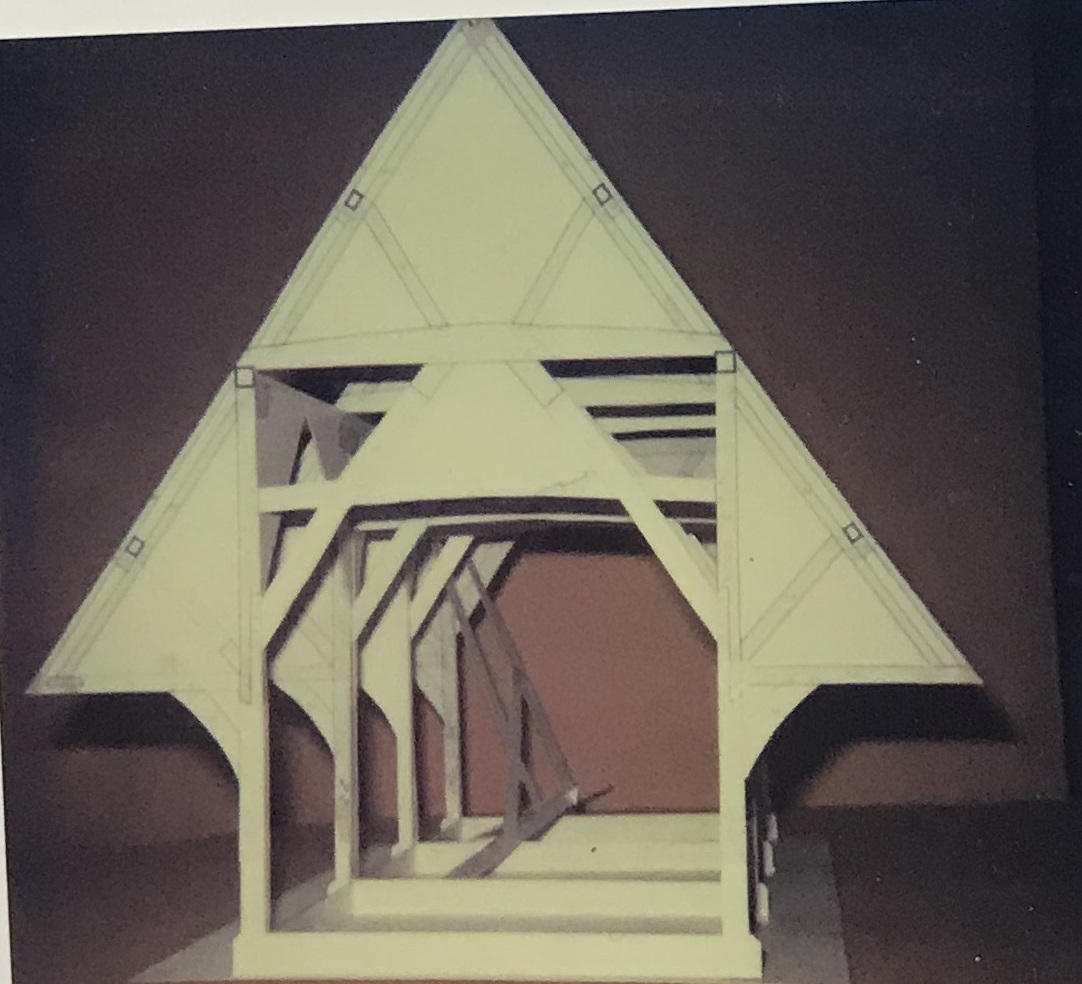 Photograph of 3D model of the barn