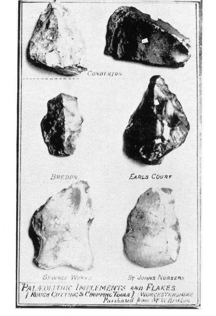 Palaeolithic flints found by Bruton