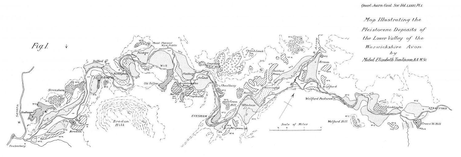 Tomlinson' Lower Avon deposit map