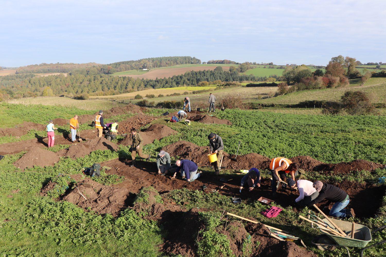 Volunteers hard at work - Ruardean Castle