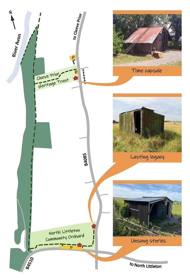Map of restored hovels