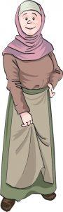 Cartoon of medieval woman