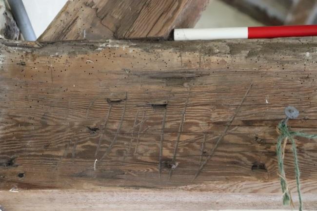 Vertical timber marks
