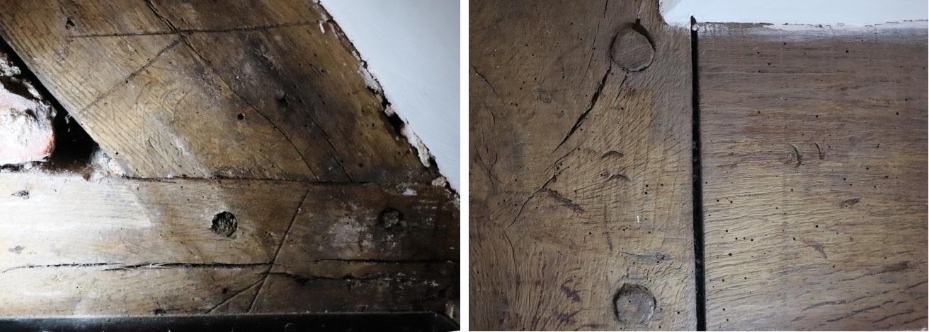 Carpenters marks at Baddesley Clinton
