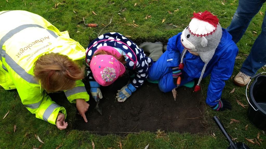 Community test pit excavation