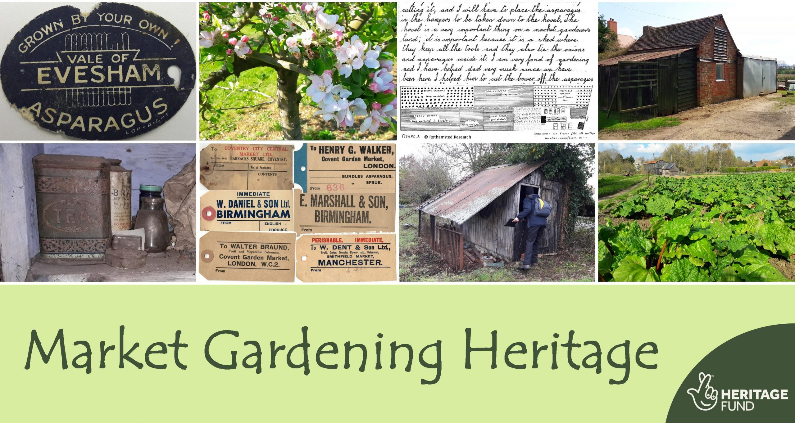 Market Gardening project montage with Lottery logo