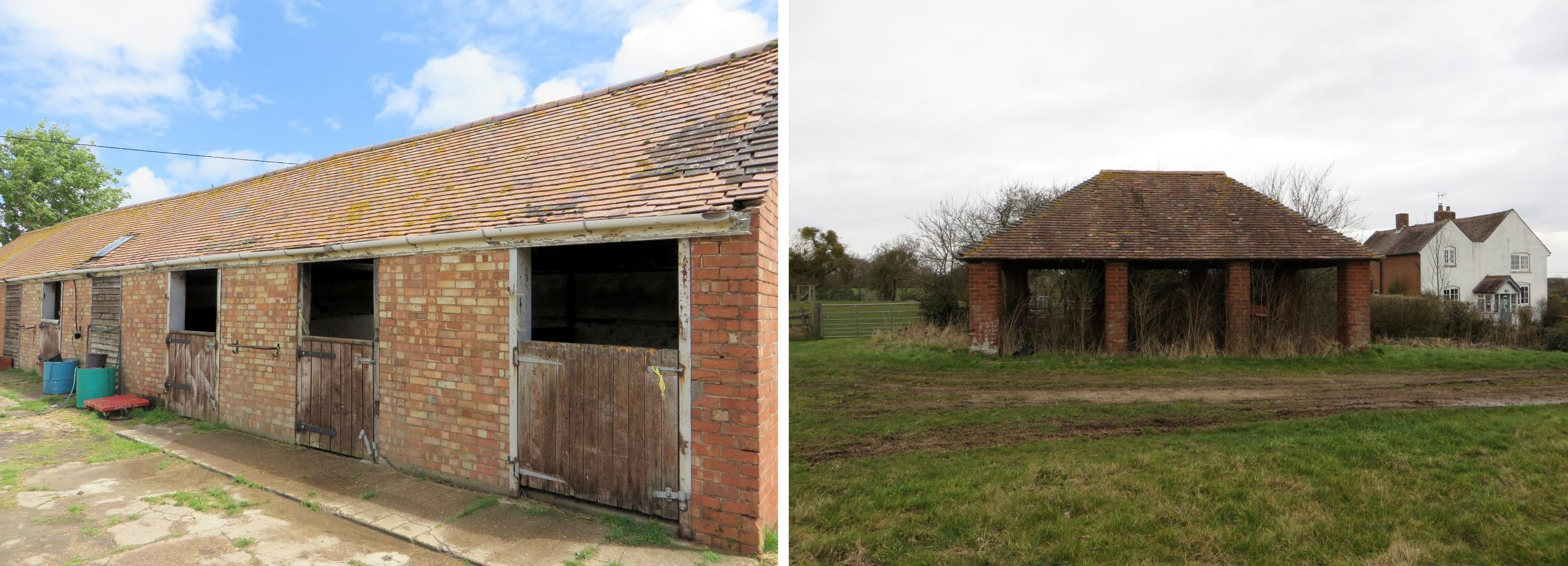 Brick stables and waggon house