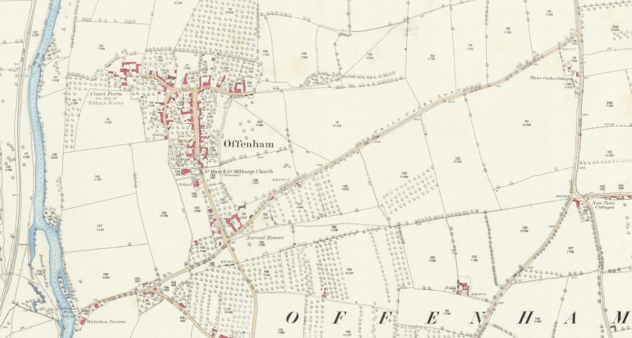 Map of Offenham - 1886