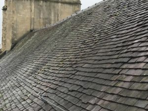 St.Swithuns: sagging roof timbers