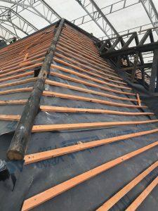Roof renovation re-uses original timbers