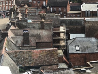Medieval roofs of St Swithuns Street