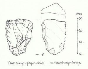 Palaeolithic flint sketch