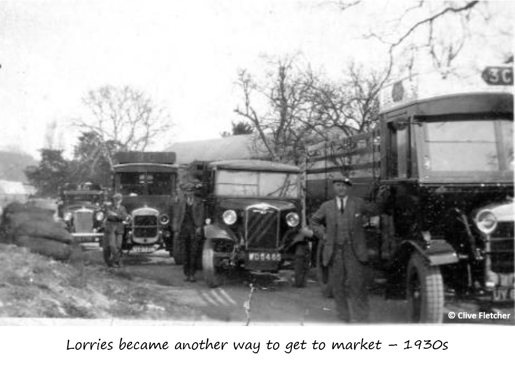 Arrival of lorry transport