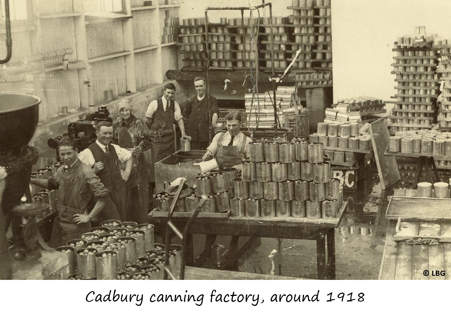 Cadbury canning factory - labelled