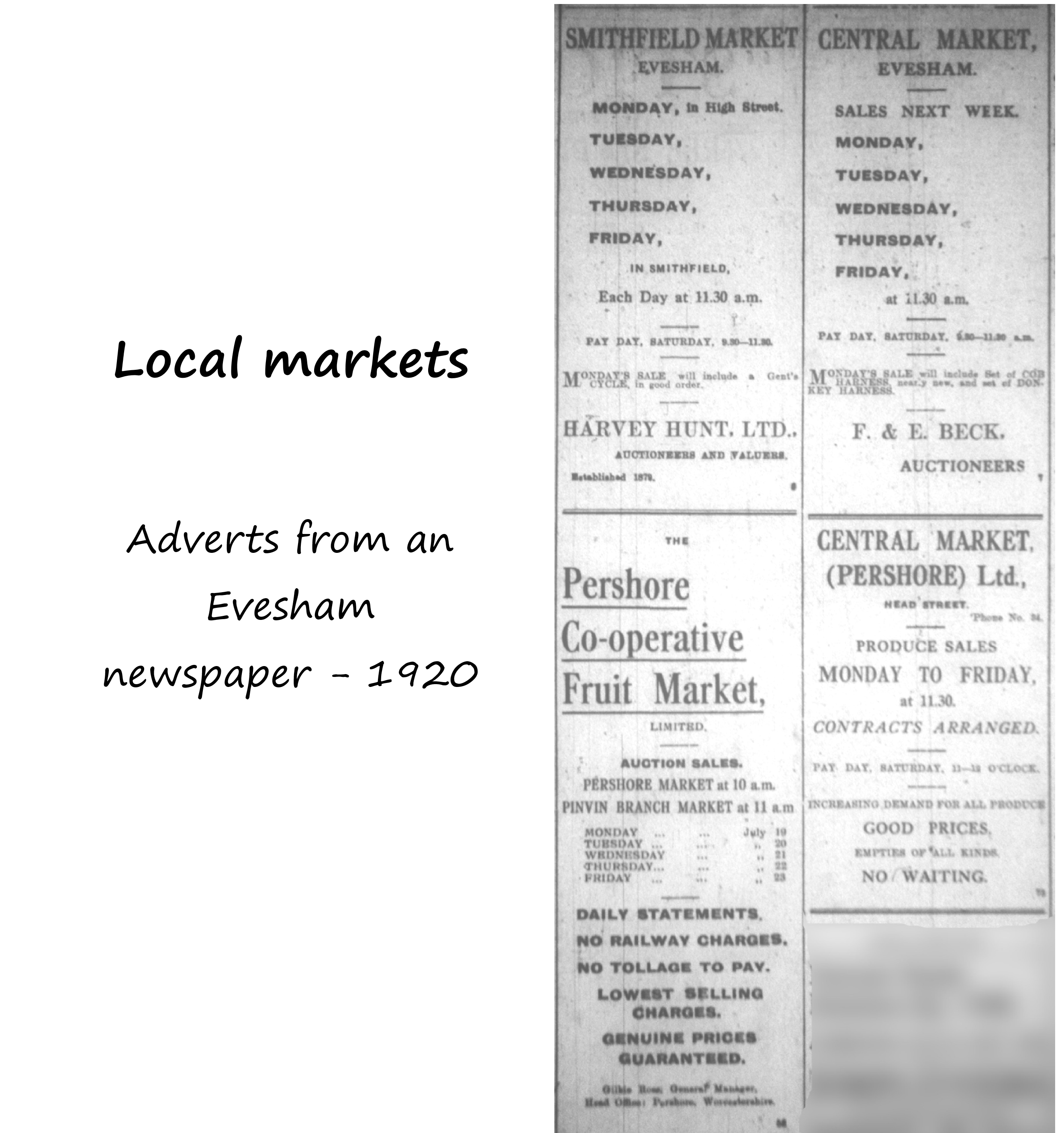 Four local markets - ads 1920