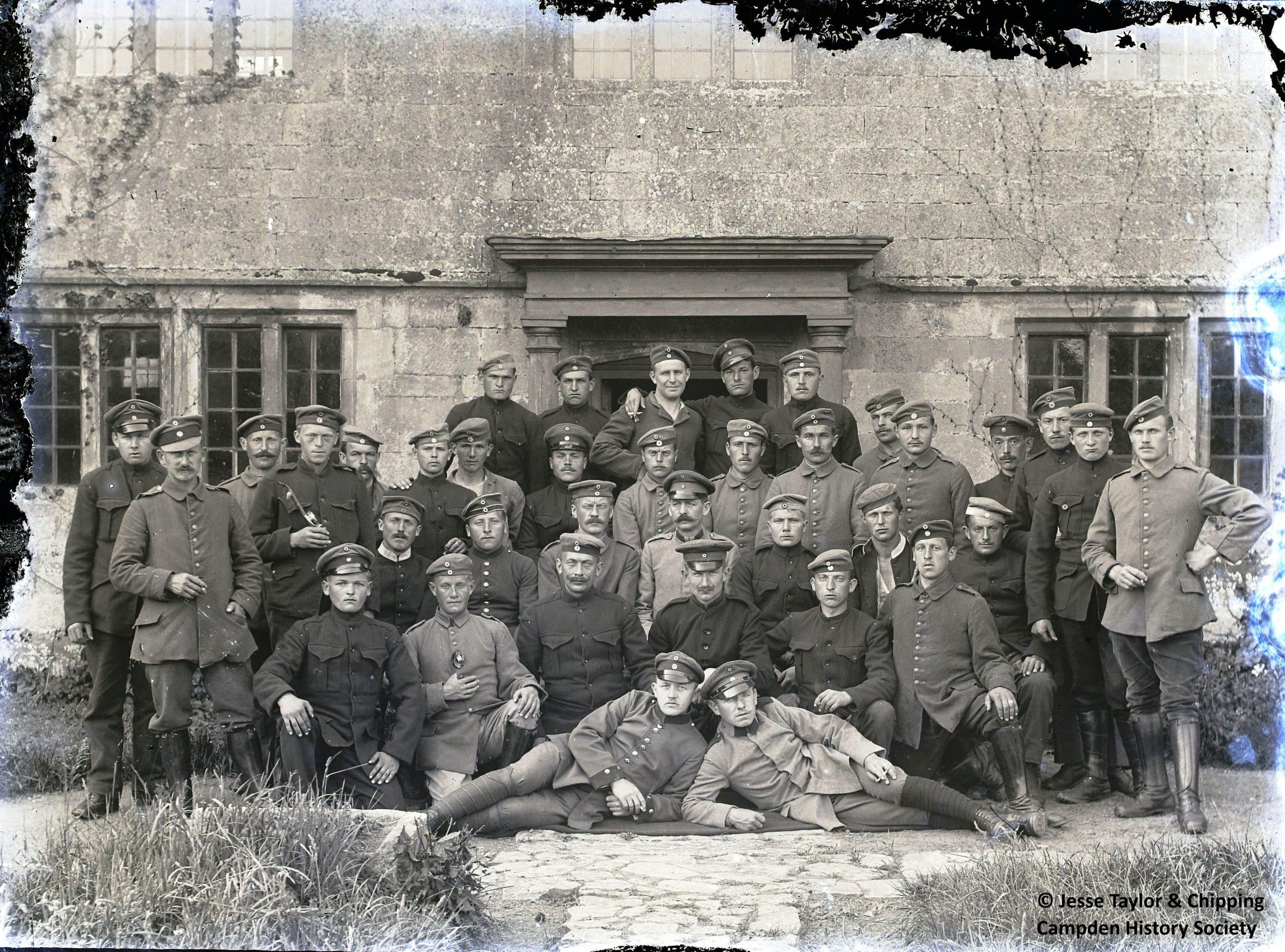 Group photo of German POWs in uniform
