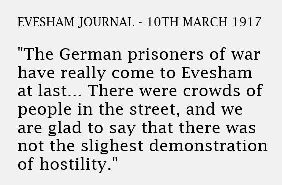 1917 news article - POWs arrive