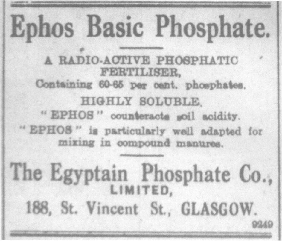 Radioactive fertiliser advert