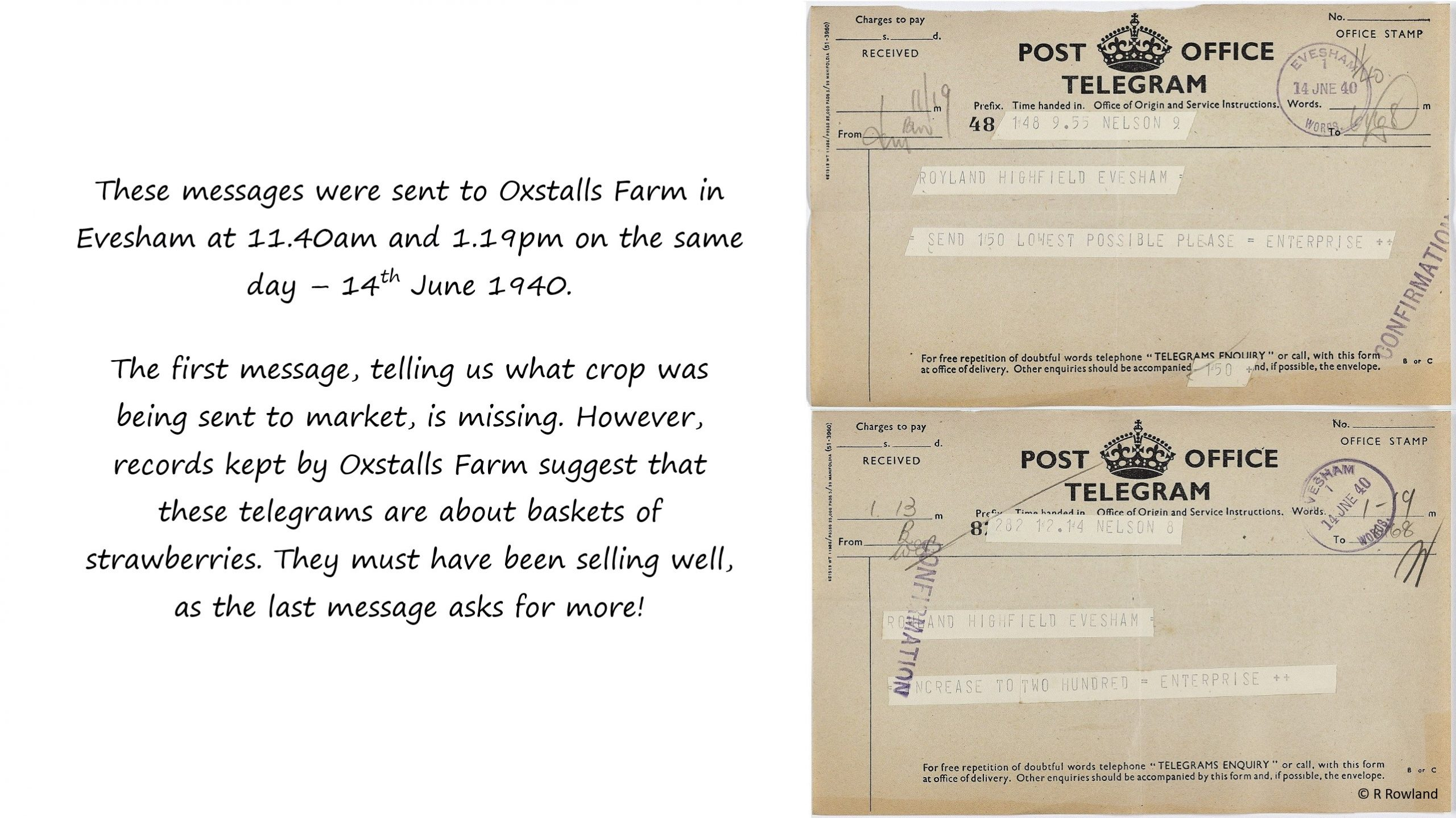 Telegram orders 1940