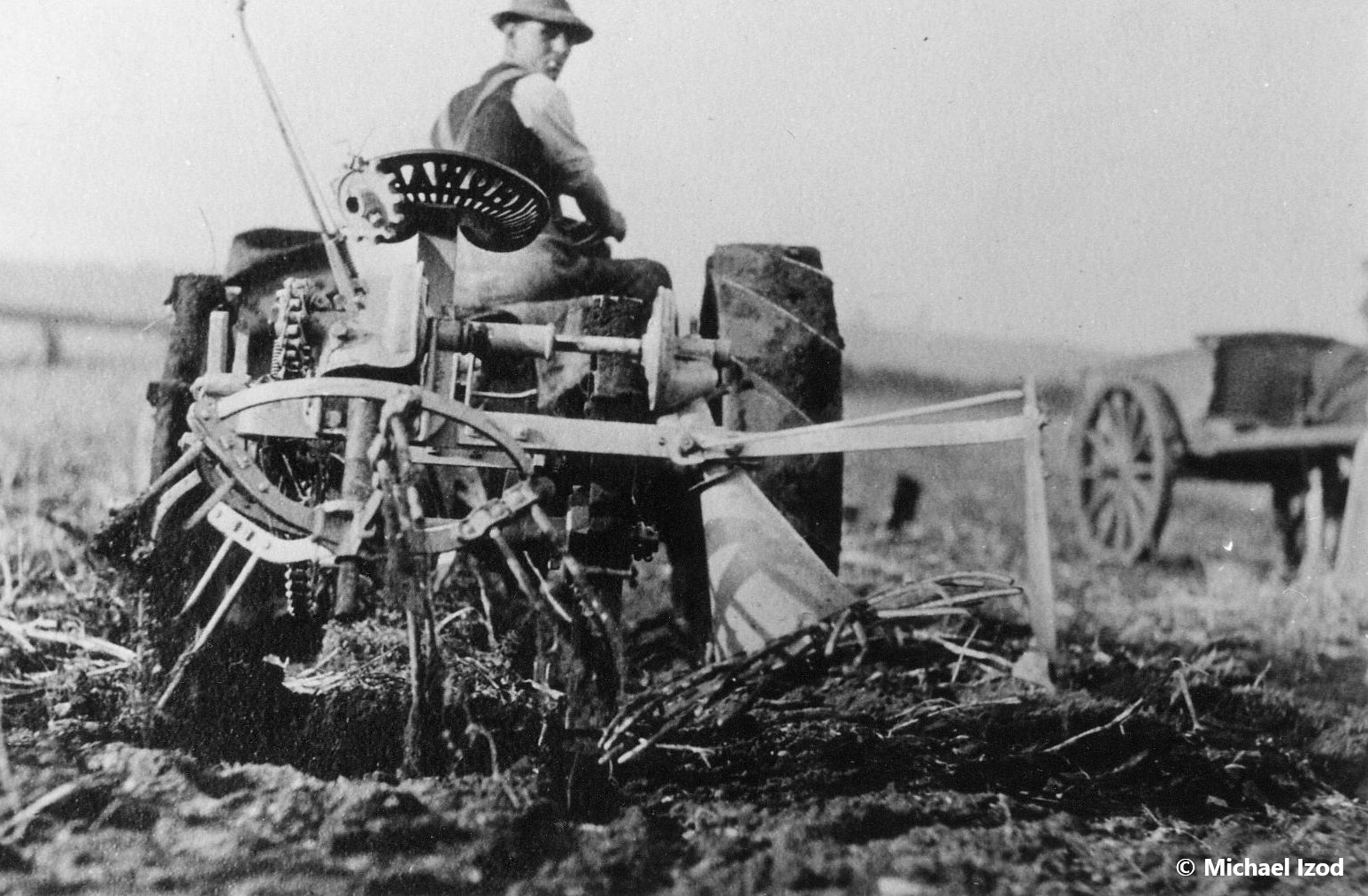 Early tractor and cart