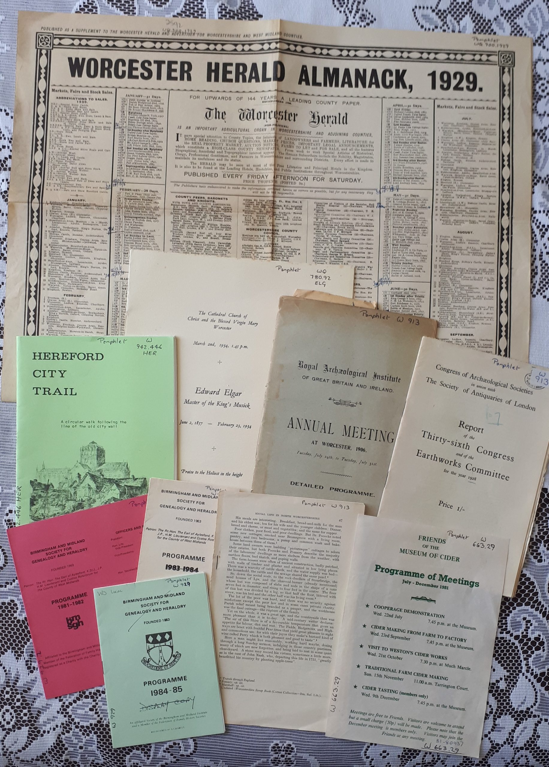 A selection of 'Library Pamphlets'