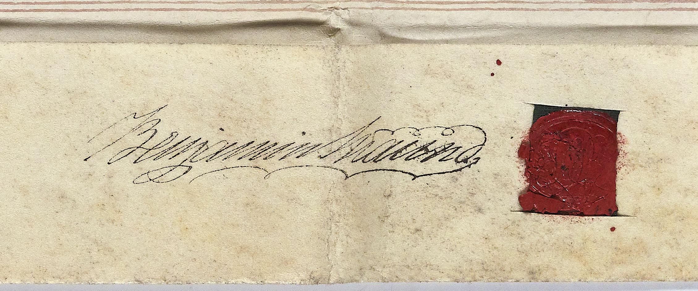 Signature of Benjamin Maund at Ref 705.1548 BA13566