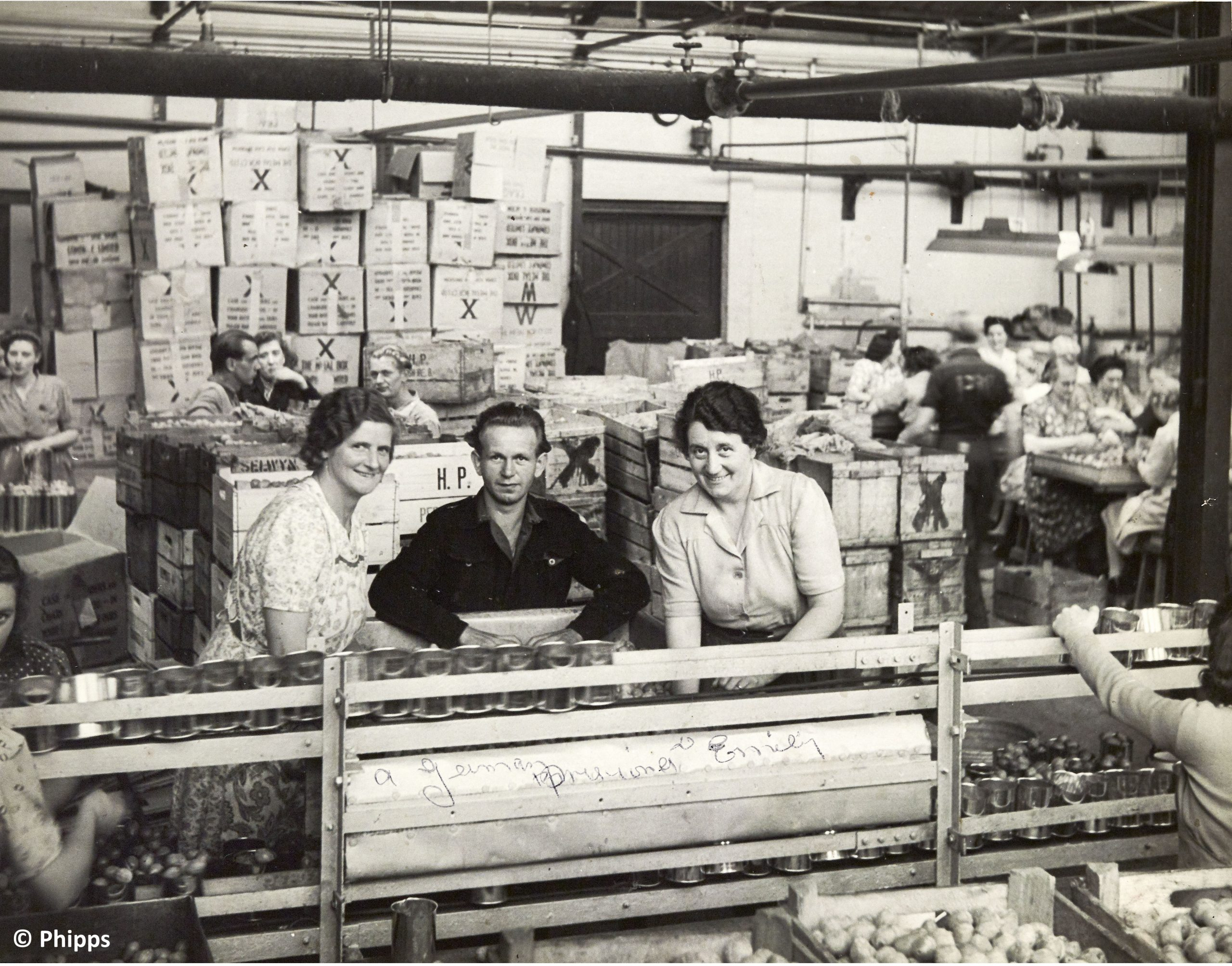 Inside Phipps canning factory