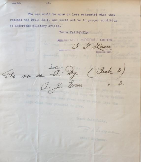 Abel Morrall letter