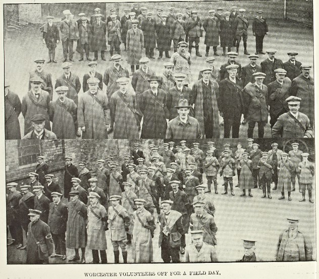 Worcester Volunteers off for a field day: Berrow's Illustrated Supplement April 29, 1916