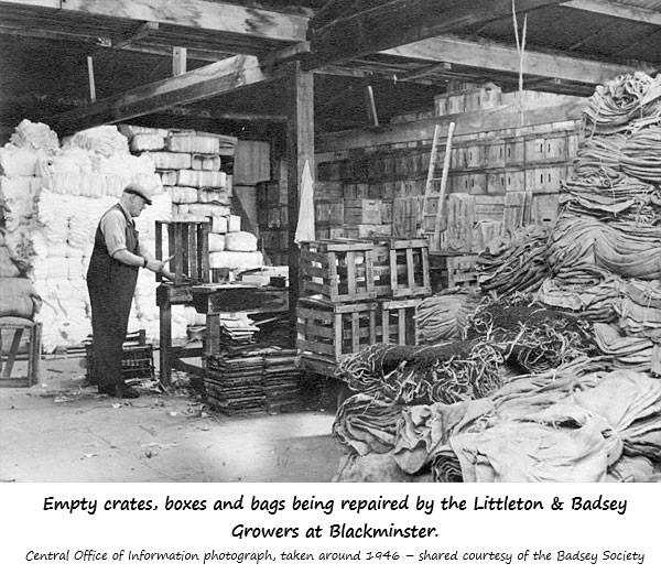 Man repairing empty crates