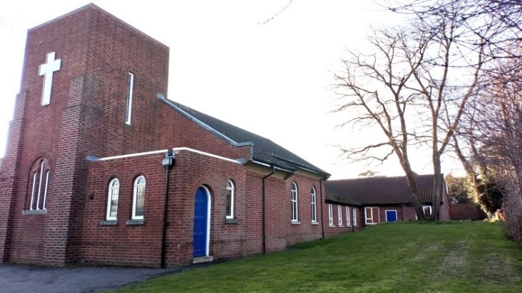 Droitwich Methodist Church, designed by G.R. Acton, dates to 1937/38. Photograph © WCC