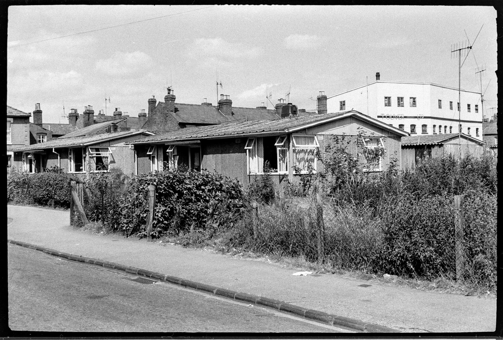 Pre fab housing in St Paul's Street, c 1960