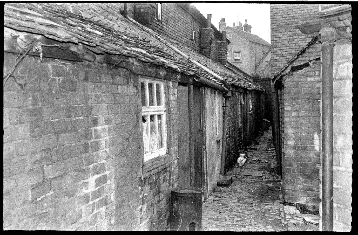 Conditions in The Moors area of the city, c1960