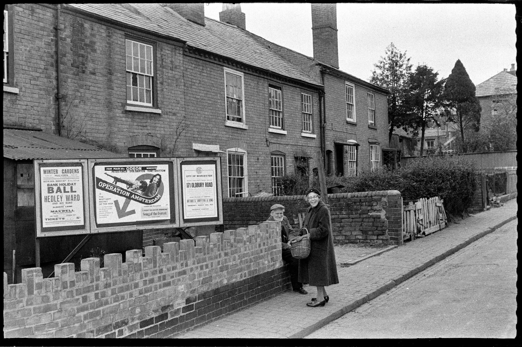 Spring Gardens in The Moors area before demolition, 1959