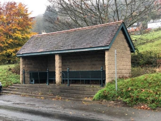 bus shelter in Malvern
