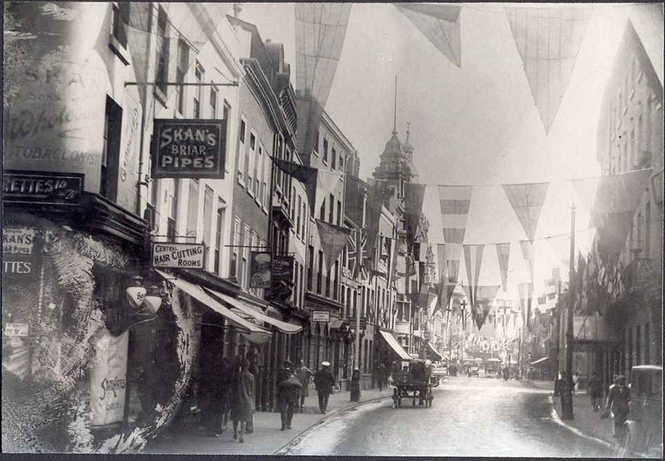 Worcester decorated for Three Choirs festival 1930s