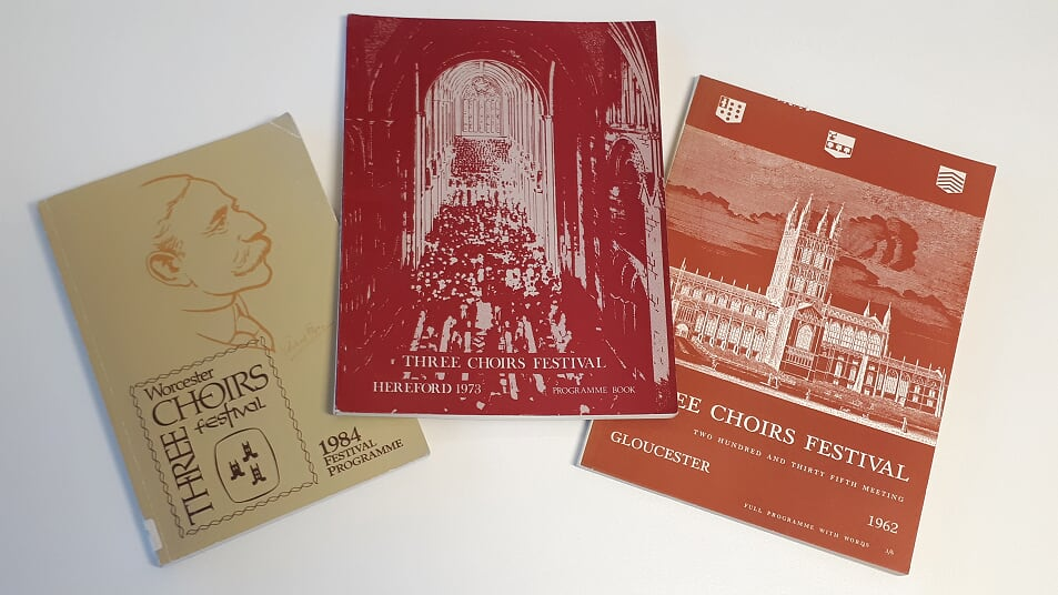 Three Choir Festival Programmes from Archives