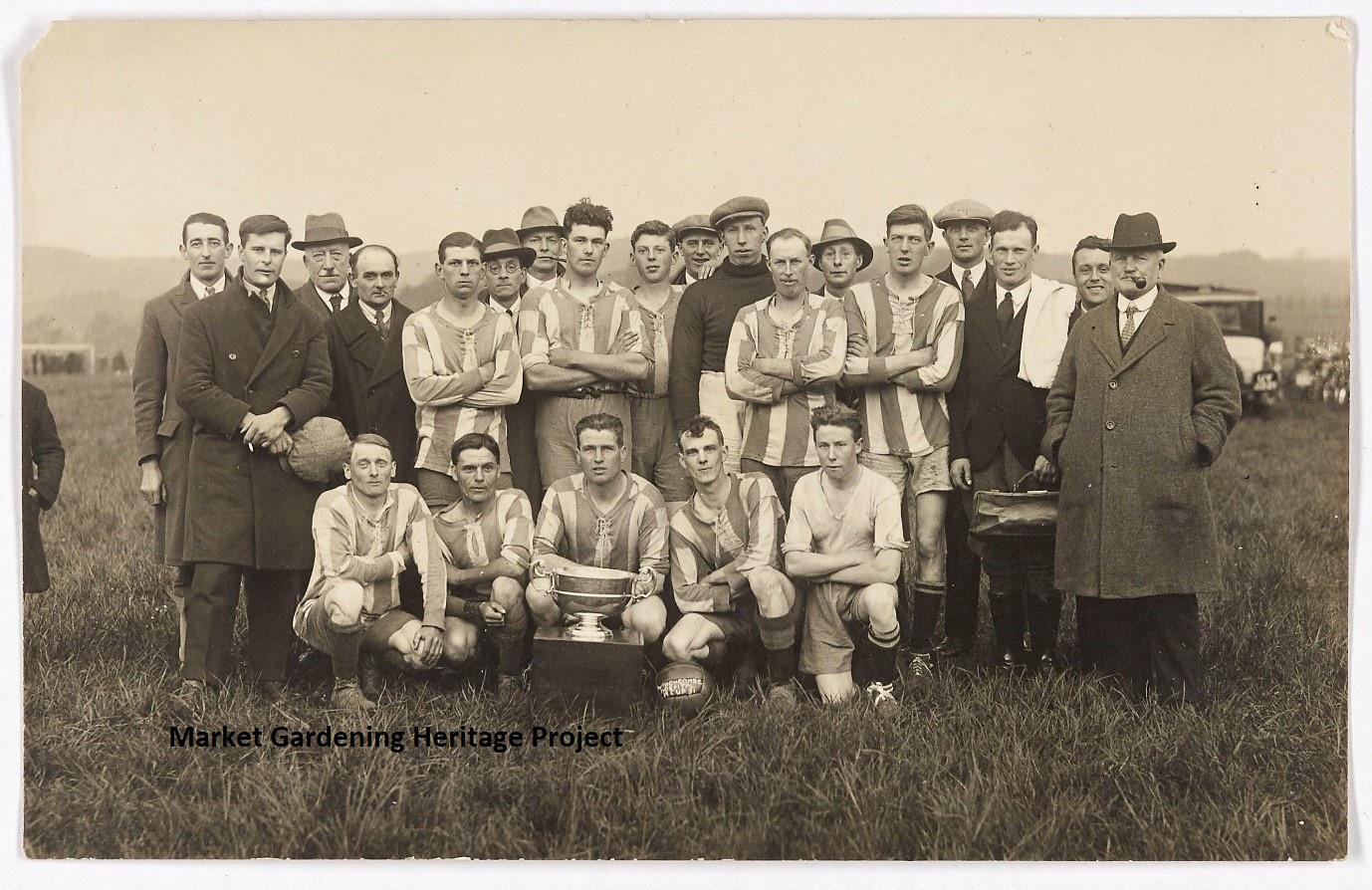 Littletons Football Team 1931. Edgar Wheeler – second from left