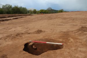 An image of the pit that was seemingly isolated on the site