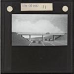 Glass slides of M5 bridges during construction c. 1960