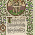 An Illuminated Address presented to Suffragettes